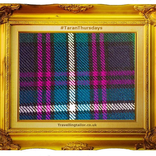 Tartan Thursdays – ideal for evening dress. Aud Lang Tartan