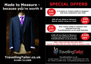 Balck Friday offers made to measure for you from TravellignTailor.co.uk