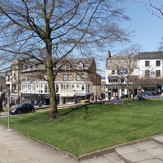 My office today: Harrogate. Visiting prospective clients for my Travelling Tailor made to measure suit service