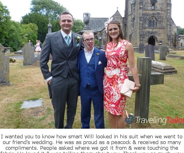 It was a pleasure meeting you Will and I'm glad you enjoyed wearing your new made to measure suit by TravellingTailor.co.uk
