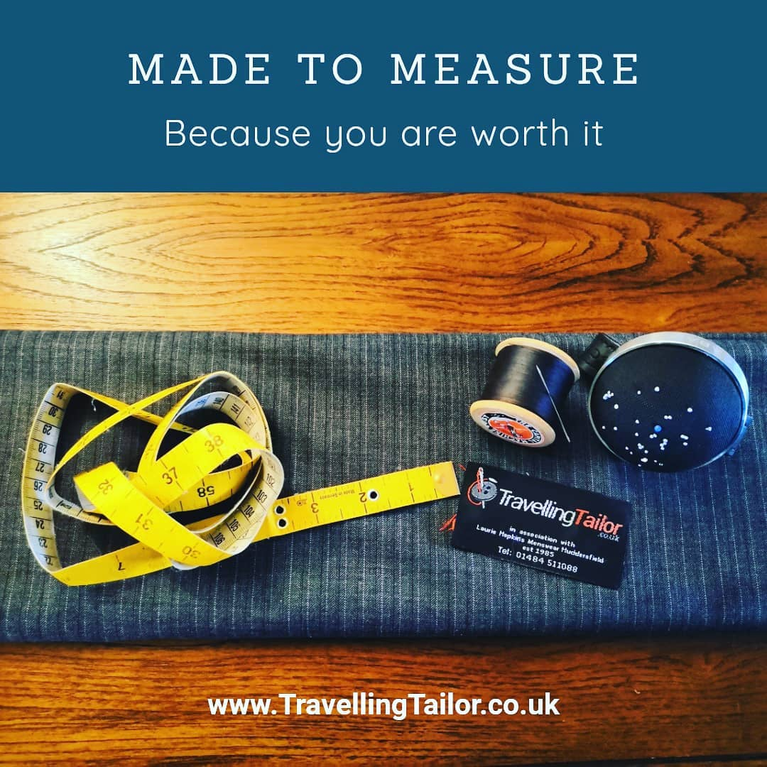 Made to measure…because you are worth it.  You're unique, why shouldn't your suit be as unique?