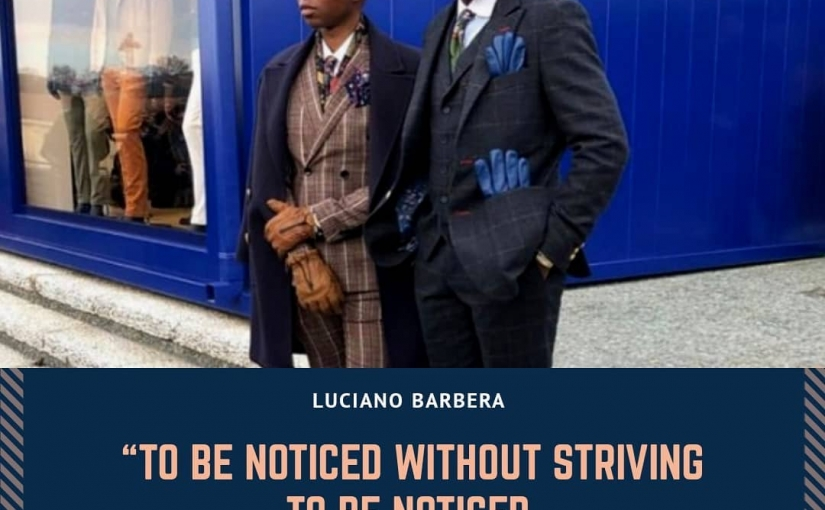 """""""To be noticed without striving to be noticed, this is what elegance is about."""" – Luciano Barbera  I just love how the gloves match the pocket square"""