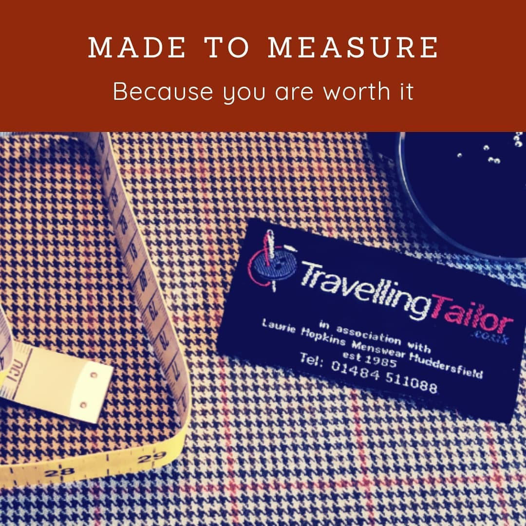 Made to measure, because you are worth it. Stunning Hounds tooth check in Brown's and green