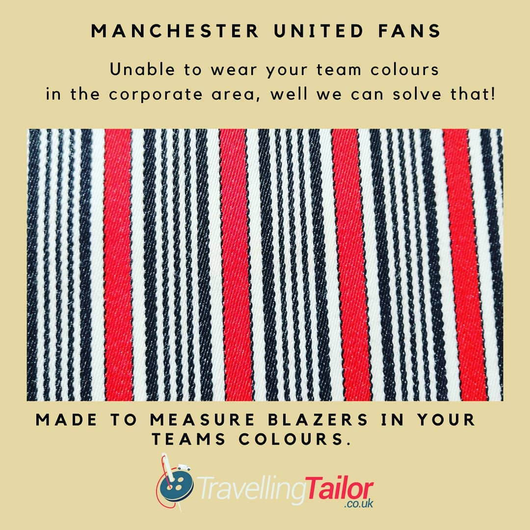 Football fans, fed up of not being able to wear your team colours in the corporate area?  Well, we have the answer.  Why not have a Made to measure blazer made in your team colours? Adhere to the strict dress code whilst still being able to wear your club colours.  Call Michael on 01484 511088 for details, most teams colours are available