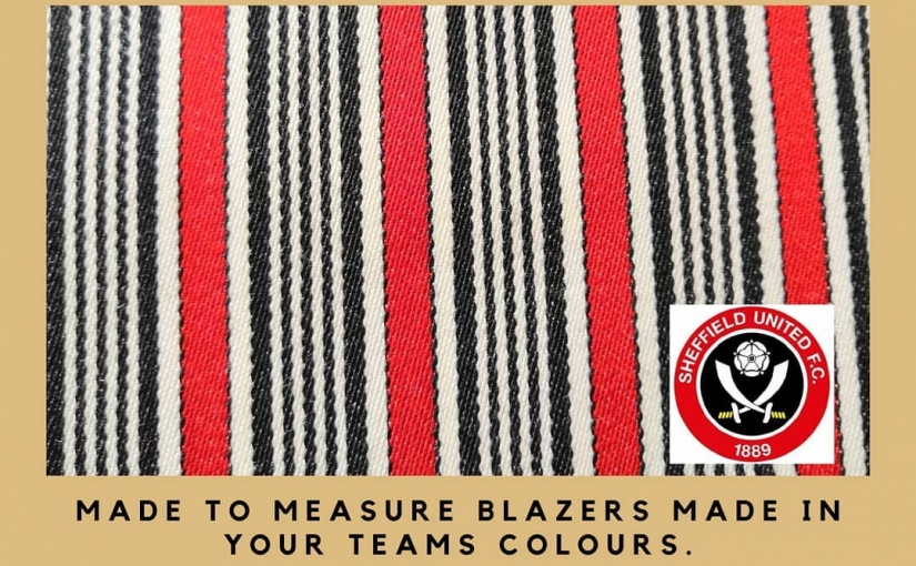 Congratulations United on your promotion to the Premier League  Are you a supporter who wants to be able to wear your teams colours in the corporate stands next season in the ?  Well, we have the answer.  Why not have a Made to measure blazer made in your team colours? Adhere to the strict dress code whilst still being able to wear your club colours.  Call Michael on 01484 511088 for details, most teams colours are available