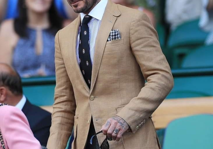 David Beckham wore a Ralph Lauren Purple Label Linen jacket at Wimbledon recently.  Why not have your own made? TravellingTailor.co.uk have an extensive range of plain and check linen's which are perfect for a Summer Jacket.  Give Michael a call on 01484 511088 to discuss your next Summer Linen Jacket