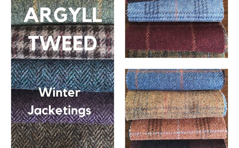 A stunning new range of ARGYLL Tweed jacketings for your new Autumn/Winter 2019 Made To Measure Tweed Jacket